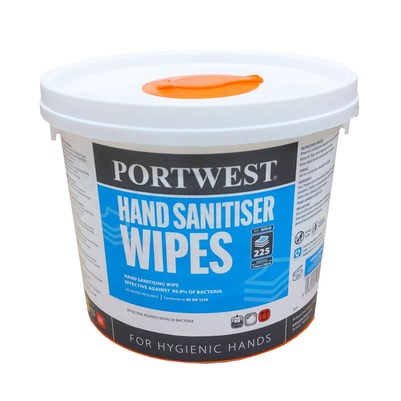 WIW40 - Hand Sanitiser Wipes (225 Wipes) White