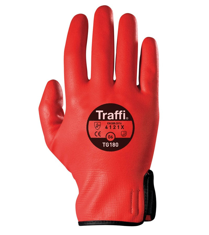 Active Cut Protection Level 1 TraffiGlove TG180 Red Per Pair