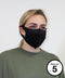 XQ005 2-piece mask (Pack of 5) Face Covering Washable