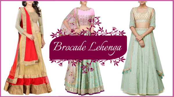 Buy Brocade Lehenga Online from Fashionmozo this Wedding Season!