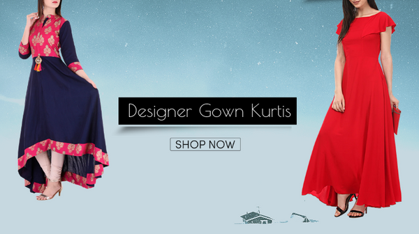 Best Designer Gown Kurtis Wear by Bollywood Divas - FashionMozo