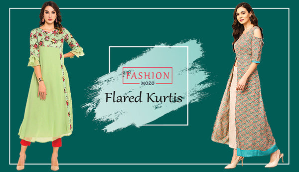 Reinvent your style by upgrading your wardrobe with flared-Kurtis