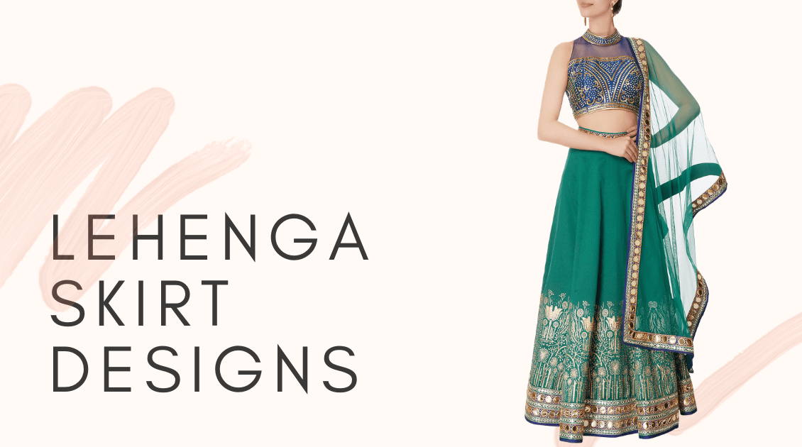 Be the Queen of fusion with the alluring Lehenga Skirt Designs!