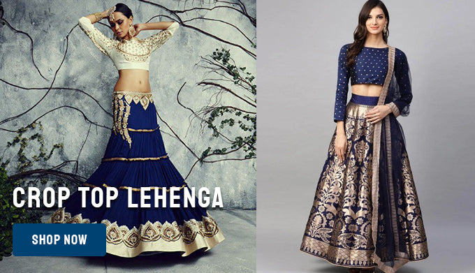 Extremely Good Crop Top Lehenga Collection For Women Fashionmozo