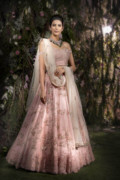 Baby Pink Color Bridal Lehenga