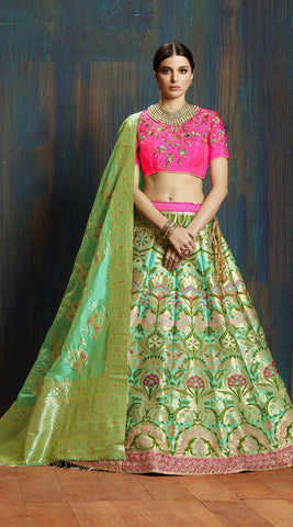 Banarasi Lehenga With Crop Top