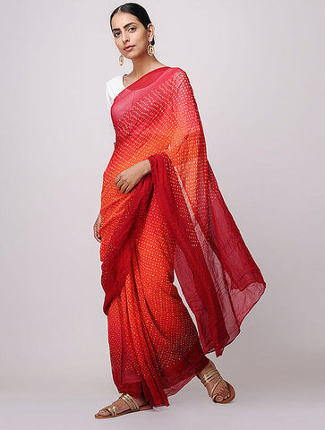 Bandhani Georgette Saree