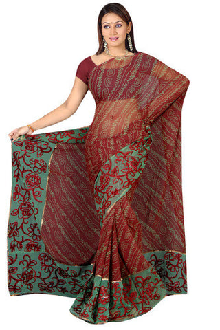 Bandhani Work Saree
