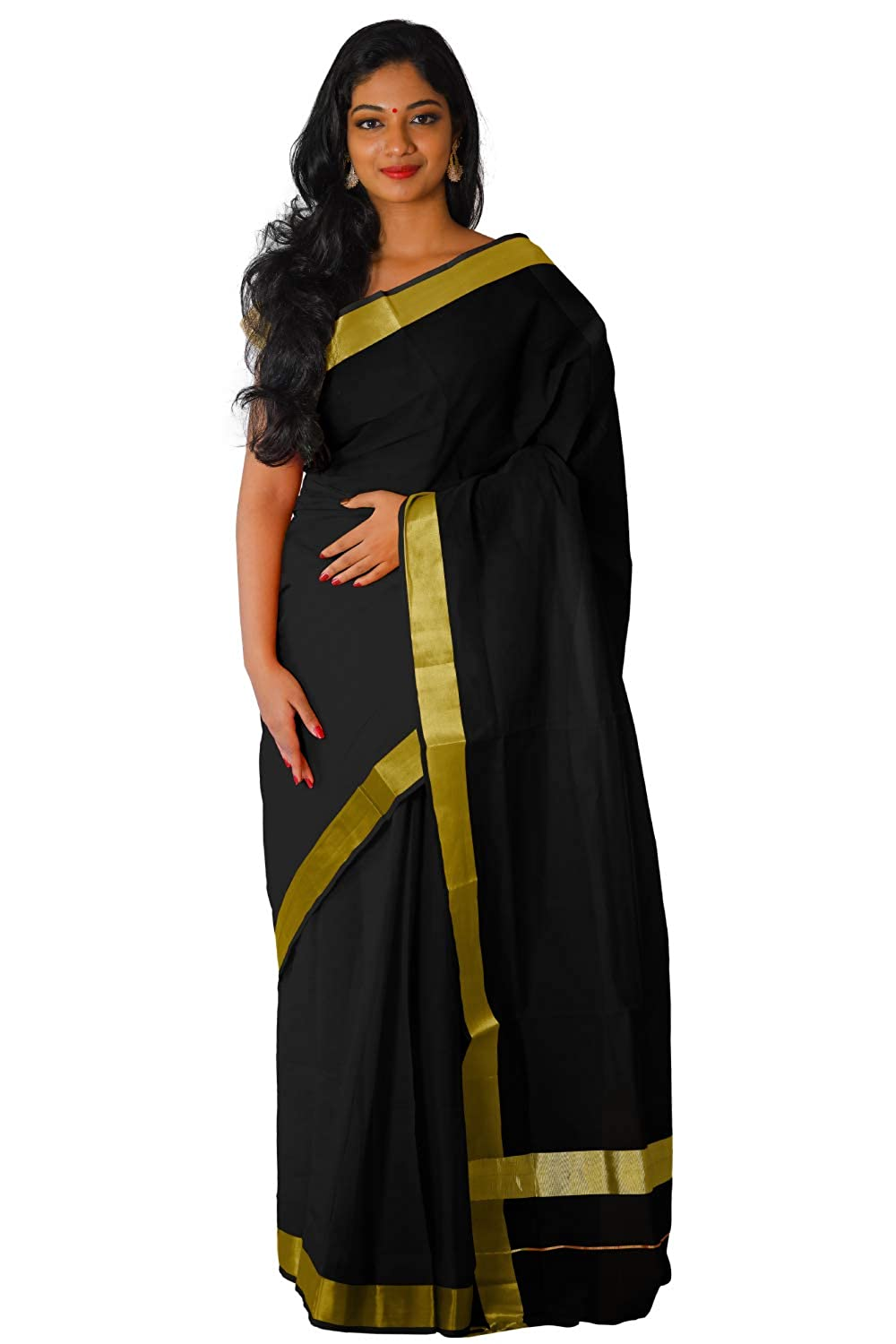 Black Kasavu Saree