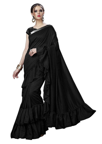 Black Ruffle Saree
