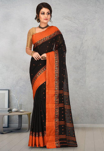 Black Tant Saree