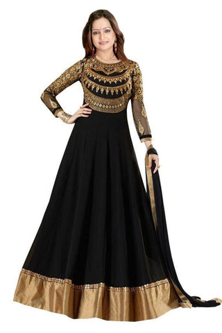 Black Party Wear Lehenga