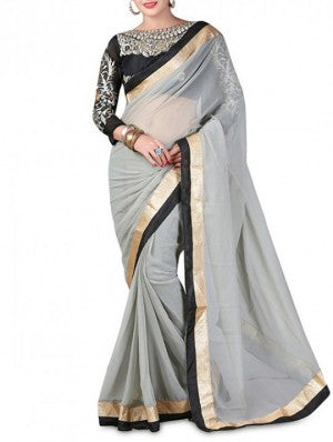 Black border saree