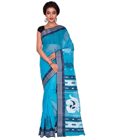 Blue Tant Saree