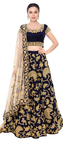 Blue Party Wear Lehenga