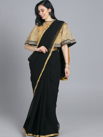 Cape Saree for a Bold Look