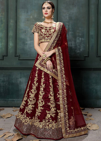 Coke Colour Bridal Lehenga