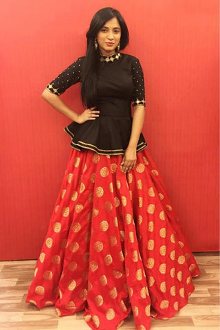 Cotton Crop Top Lehenga