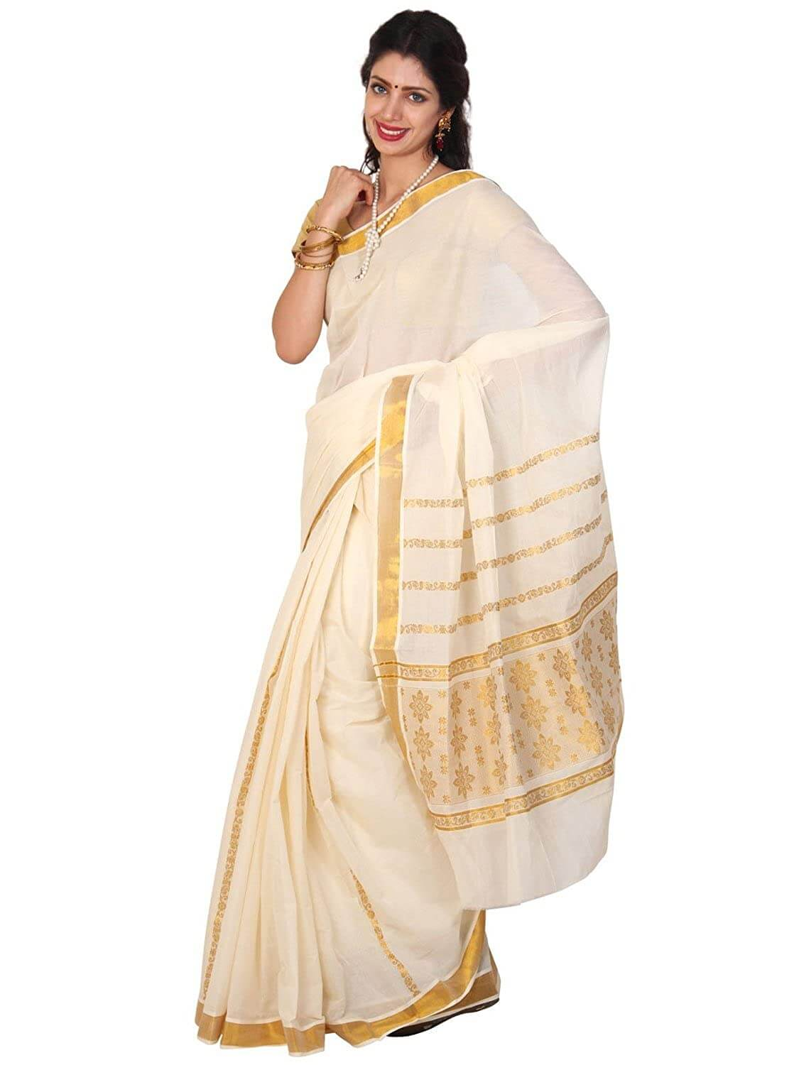 Cotton Kasavu Sarees