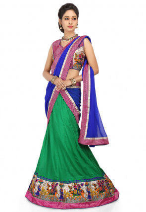 Cotton Lehenga Saree