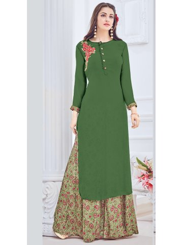 Cotton Lehenga With Long Kurti