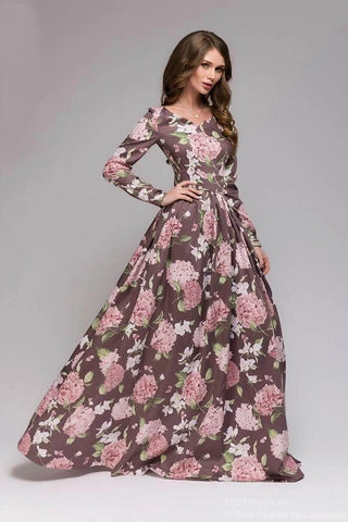 Cotton Print Gown