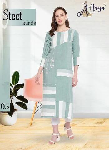 Cotton Printed Long Kurti