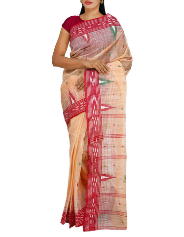 Cream Silk Weaving Saree
