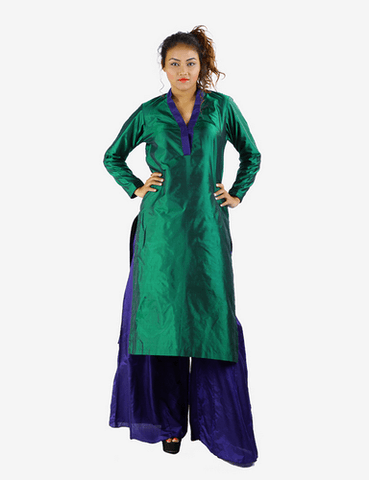 Dark Green Long Kurti