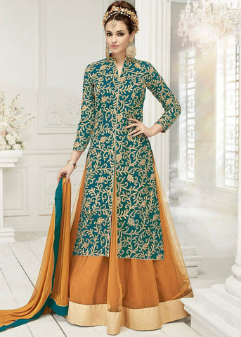 Designer Lehenga With Long Kurti