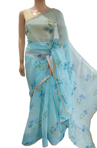 Digital Print Organza Saree