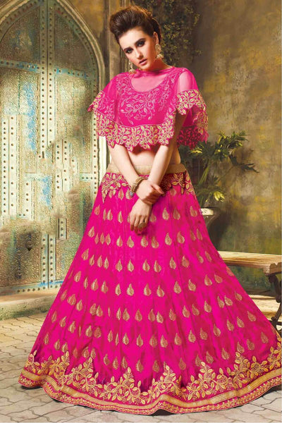 Embroidered Crop Top Lehenga