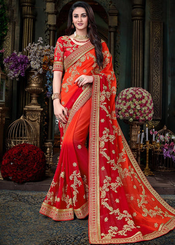 Embroidery Georgette Sarees