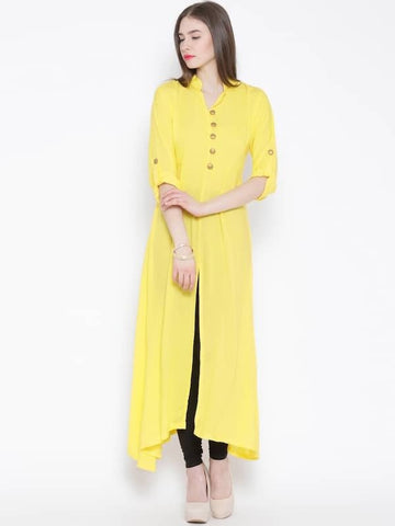Floor-length front slit Kurtis