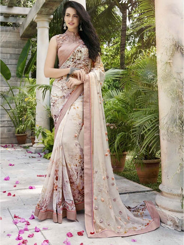 Floral Party Wear Sarees