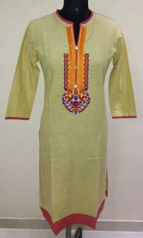 Front Embroidery Kurti