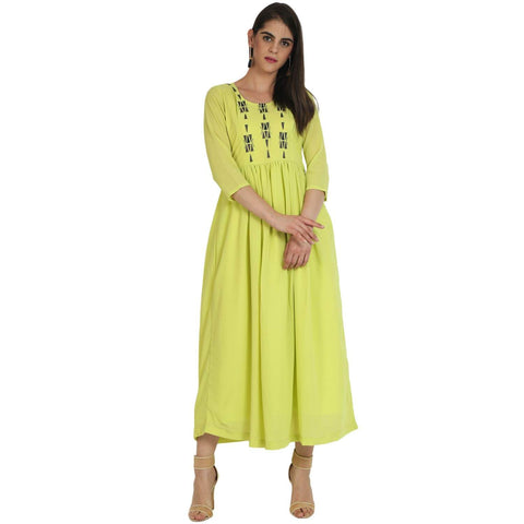Georgette Flared Kurta