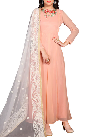 Georgette Anarkali attire