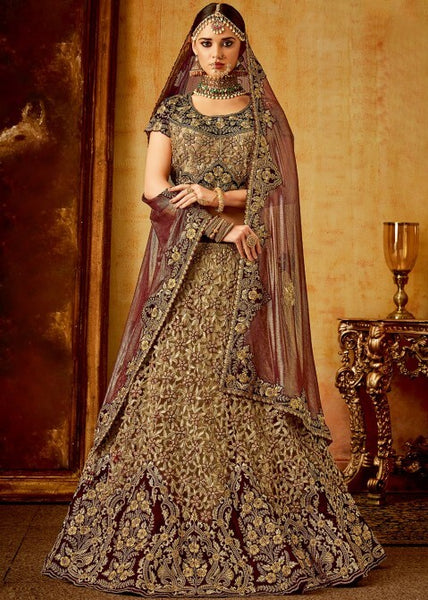 Golden Bridal Lehenga