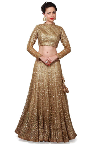 Golden Lehenga Skirt