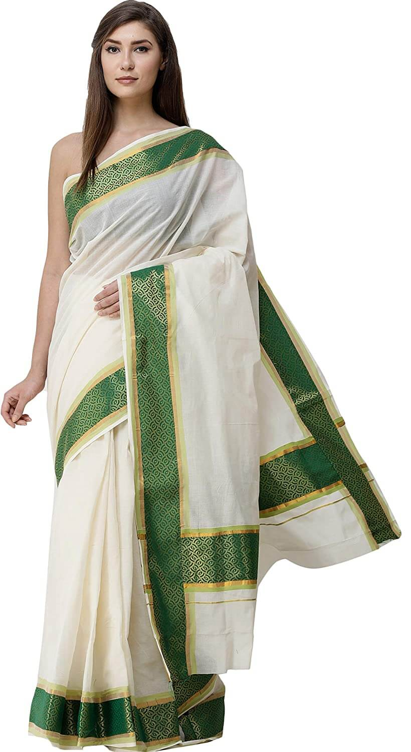 Green Kasavu Saree
