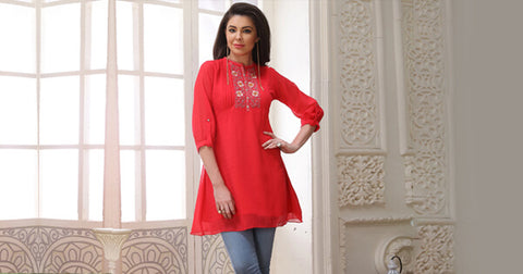 Indo Western Kurti With Jeans