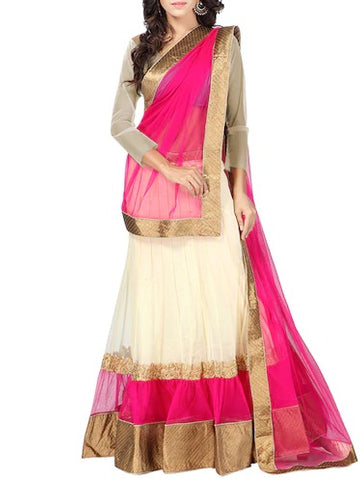Light Pink Brocade Designer Silk Lehenga