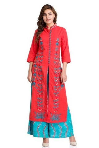 Long Kurti And Plazo