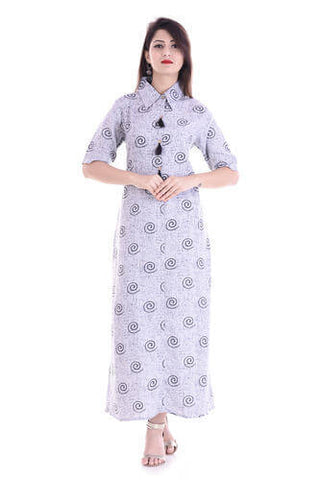 Long Kurti With Collar