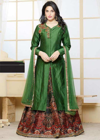 Long Kurti With Ghagra