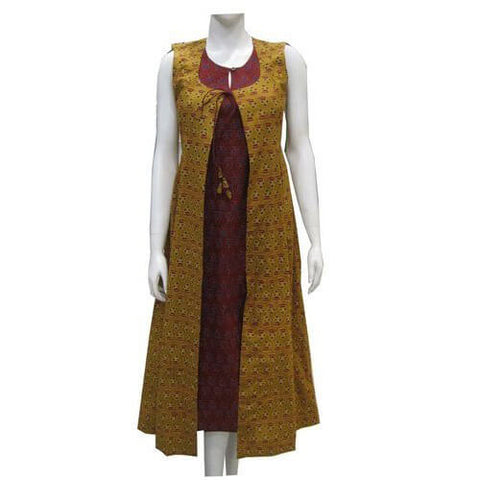 Long Kurti With Long Jacket