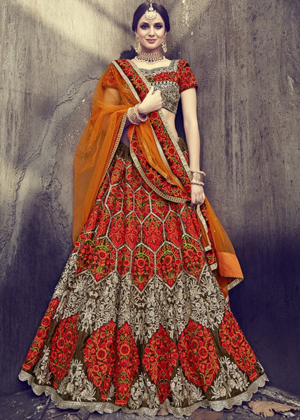 Multi Color Bridal Lehenga