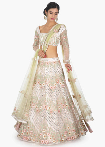Off White Lehenga Skirt