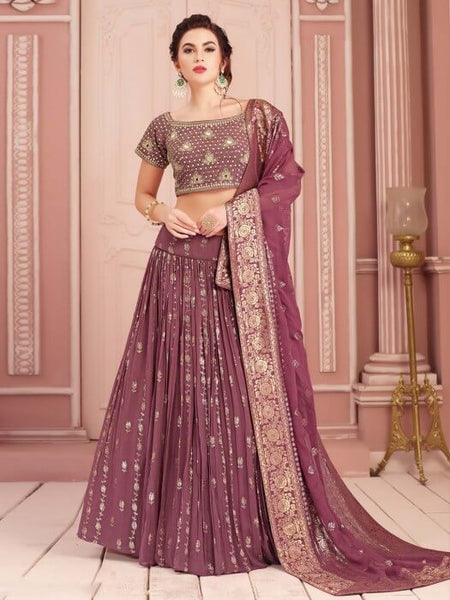 Onion Colour Bridal Lehenga